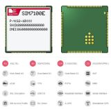 SIM7100e 4G Wireless Module with FDD-Lte B1/B3/B7/B8/B20 Tdd B38/B40