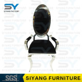 Hotel Furniture China Armrest Chair Banquet Chair Steel Dining Chair