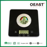 3kg Digital Kitchen Scale with Time, Temperature, Humidity Display Touch Button Ot6662th
