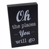 High Quality Silk-Screen Wooden Block with Words for Desk/Table