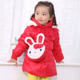 Carton Cute Down Jacket for Little Gilr with Self-Bag