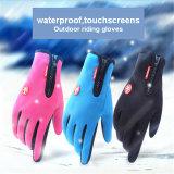 Brand Gloves 2017 New Winter Velvet Warm Gloves Zip Mountaineering Gloves Windproof Waterproof Gloves&Mittens