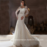 Long Sleeves Bridal Gowns Mermaid Lace Wedding Dresses Kz1040