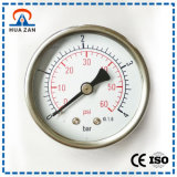 Stainless Steel 2.0 Inches Back Central Mount Steam Pressure Gauge