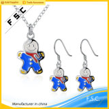 Wholesale Newest Design Cute Snowman Jewelry Set for Christmas