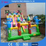 Animal Theme Inflatable Amusement Park Slide with Bounce Area