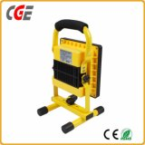 Portable Battery Powered LED Work Light Outdoor 10W Rechargeable LED Flood Light