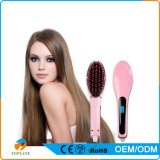 Hot Sale Broadcare Iron Hair Brush Hair Straightener Comb LCD Display Styling Beauty Hair Care Tools with EU Plug for Woman