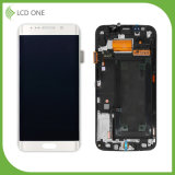 Original LCD Touch Screen Assembly for Samsung S6edge with Frame White Color