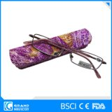 New Trendy Design Square Frame Metal Reading Glasses with Metal Case