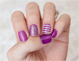 Fashionable Stripes Lines Nail Sticker Art Sticker