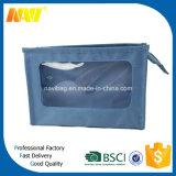 Hot Popular Fashion Polyester Custom Cosmetic Bag with PVC Window