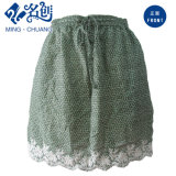 Green Floral Embroidery Ladies Fashion Skirt with Elastic Waistband