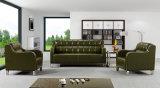 Modern Europe Design Steel Metal Leather Waiting Office Sofa (NS-D6306)