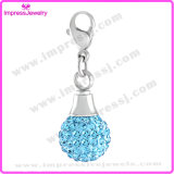 Round Styple with Crystals Cremation Necklaces for Ashes Charms