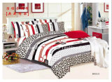 85GSM 100% Microfiber Printed Complete Bedding Sheets Set with Soft and Cozy Touch