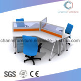 Bottom Price Three Seats Wooden Table Workstation Office Furniture