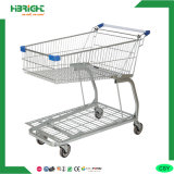 Chile Style Metal Shopping Trolley Cart for Supermarket