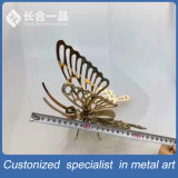 Hot Sale Handmade Stainless Steel Artwork of Golden Butterfly/Sailing/Car/Eiffel Tower