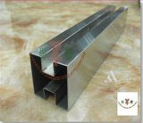 Stainless Steel Square Double Slotted Tube for Glass System
