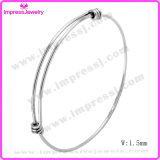1.5mm Wire Expandable Wire Bangle Bracelet for Men Women