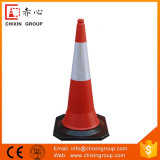 Full Fluorescent Red Road Marking Cones with Colored Reflective Tapes