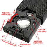 Dual Lens 30X 60X UV Lighted Jewelry Loupe Reading Magnifier