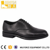 Black Gueuine Cow Leather PU Leather Lining Army Footwear Military Office Shoes