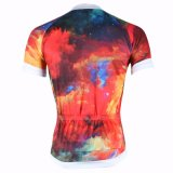 Passion Colored Men's Cycling Jerseys Breathable Short Sleeve Row of Han Sport Outdoor