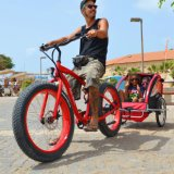 """New 26""""X 4.0 Fat Tire Electrc Bicycle on Beach"""