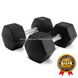 Rubber Coated Hex Dumbbell Neoprene Dumbbell Gym Fitness Equipment Customize Logo Good Quality