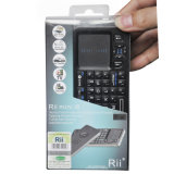 Rii Wireless Mini Qwerty Keyboard Touchpad for PS3&IR Home Appliance Remote Control For Mini PC, Android TV Box
