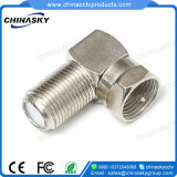 Female to Male Right Angle F Connector for CCTV Camera (CT5074C)