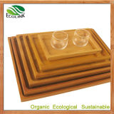 Bamboo Tea/Food Serving Tray for Tableware