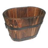 Best Quality Wooden Flower Pot, Wooden Barrel Flower Pot, Beautiful Wooden Flower Pot