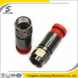 Waterproof Connector RG6 F Compression Connector with Black Plating