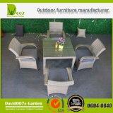 PE Rattan Modern Furniture Wicker Table Set