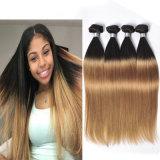 Peruvian 27 Straight Virgin Hair 4 Bundles Sale Cheap Ombre Blonde Bundles with Dark Roots Straight Human Hair Weave Bundles