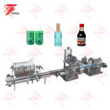Full Automatic Water Juice Plastic Round Bottle Liquid Filling Capping Labeling Machinery