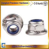 Stainless Steel Hexagon Nylon Insert Flange Nut A2~70