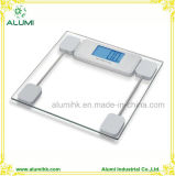 Large LCD Display Tempered Glass Bathroom Personal Scale for Hotel