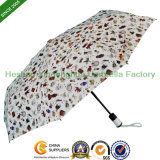Heat Transfer Printing Auto Three Fold Umbrella for Promotion (FU-3821BFA)