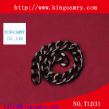 Polished metal brass silver chain for handbag and garment