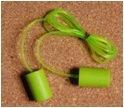 Cylinder Style Plastic Wire Corded PU Foam Soft Earplug Ce