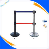 Retractable Line Rope Belt Stanchions Stand Pole Queue Barrier