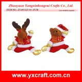 Christmas Decoration (ZY14Y112-3-4 17CM) Christmas Running Gift Metal Craft