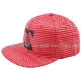 Cotton Twill Flat Bill Snapback Print Embroidery Baseball Cap (TMFL6345)