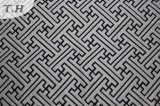 Black Gemotric Chenille Upholstery Fabric (fth31947)