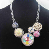 New Item Colorful Glass Acrylic Stones Fashion Jewelry Necklace