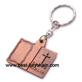 Brass Silver Custom Design Bible Book Metal Key Chain (BK52937-)